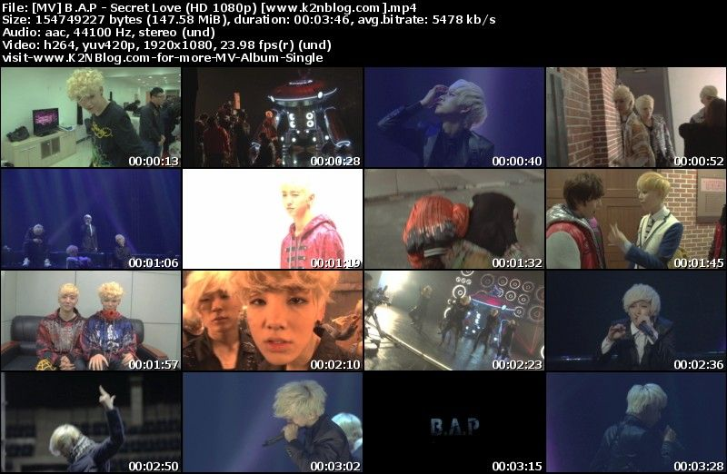 [MV] B.A.P - Secret Love (HD 1080p Youtube)