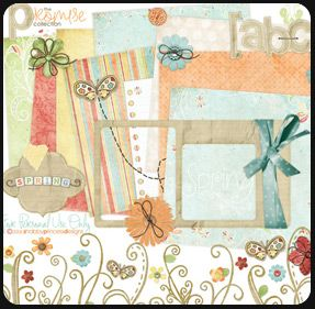 Scrap book template and elements: Promise